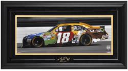 Kyle Busch Framed Mini Panoramic with Facsimile Signature - Mounted Memories