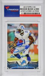 Reggie Bush Detroit Lions Autographed 2013 Topps #391 Card with Go Lions Inscription - Mounted Memories