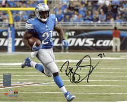 """Reggie Bush Detroit Lions Autographed 8"""" x 10"""" Horizontal Running Photograph"""