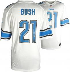 Reggie Bush Detroit Lions Autographed Nike White Game Replica Jersey