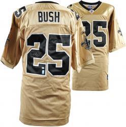 Reggie Bush Autographed Jersey - Reebok Gold Mounted Memories