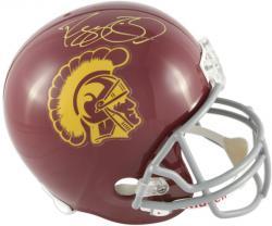 Reggie Bush USC Trojans Autographed Riddell Replica Helmet