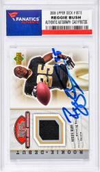 Reggie Bush New Orleans Saints Autographed 2006 Upper Deck #85TE Card with a Piece of Game-Used Jersey