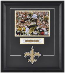 New Orleans Saints Reggie Bush Framed Photo and Plate - Mounted Memories