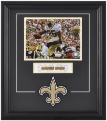 New Orleans Saints Reggie Bush Framed Photo and Plate