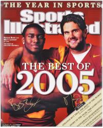 Reggie Bush and Matt Leinart USC Trojans Autographed 16'' x 20'' Photograph - Mounted Memories