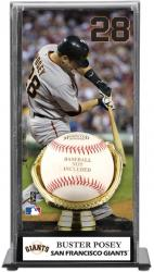 Buster Posey San Francisco Giants Baseball Display Case with Gold Glove & Plate - Mounted Memories