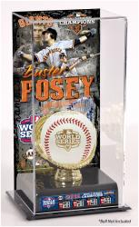 Buster Posey San Francisco Giants 2012 World Series Champions Baseball Display Case with Gold Glove & Plate - Mounted Memories