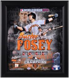 "Buster Posey San Francisco Giants 2012 World Series Framed 15"" x 17"" Collage with Game-Used Baseball - Limited Edition of 500"