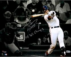 """Buster Posey San Francisco Giants Autographed 11"""" x 14"""" World Series Spotlight Photograph with 14 WS Champs Inscription"""