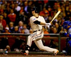 """Buster Posey San Francisco Giants Autographed 16 x 20"""" Photograph with 14 WS Champs Inscription"""