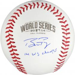 Buster Posey San Francisco Giants Autographed 2014 World Series Baseball with 14 WS Champs Inscription