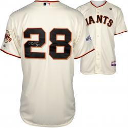 Buster Posey San Francisco Giants Autographed 2014 World Series Home Jersey