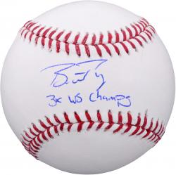 Buster Posey San Francisco Giants Autographed Baseball with 3x WS Champs Inscription