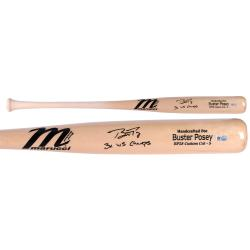 Buster Posey San Francisco Giants Autographed Marucci Game Model Bat with 3x WS Champs Inscription