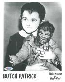 "Butch Patrick Signed ""Eddie Munster"" Authentic Autographed 8x10 Photo PSA/DNA #1"