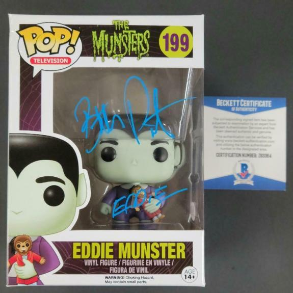 BUTCH PATRICK Signed Eddie Munster Pop! Vinyl Figure The Munsters w/ PSA/DNA COA