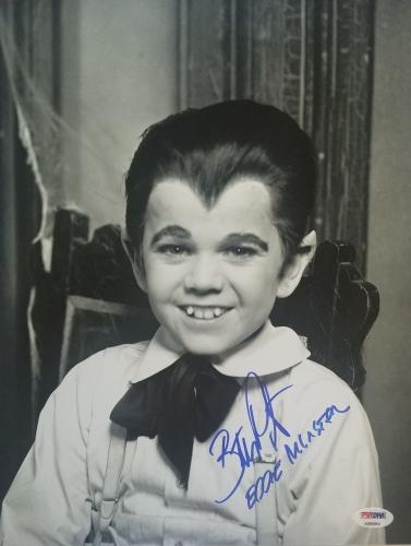 BUTCH PATRICK Signed Rare Eddie Munster Inscribed 11x14 The Munsters PSA/DNA COA