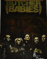 BUTCHER BABIES group signed 12X17 concert poster W/COA Heidi Shepherd and Carla