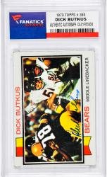 Dick Butkus Chicago Bears Autographed 1973 Topps #300 Card  - Mounted Memories  - Mounted Memories