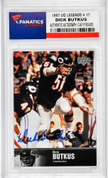 Dick Butkus Chicago Bears Autographed 1997 Upper Deck Legends #17 Card  - Mounted Memories  - Mounted Memories