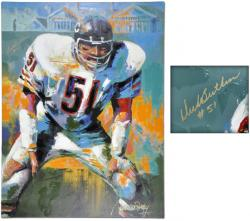 "Chicago Bears Dick Butkus 36"" x 48"" Giclee"
