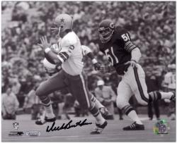 Dick Butkus Chicago Bears Autographed 8'' x 10'' Chasing Roger Staubach Photograph - Mounted Memories