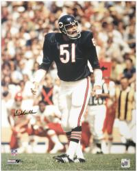 Dick Butkus Chicago Bears Autographed 16'' x 20'' Crowd in Background Color Photograph - Mounted Memories
