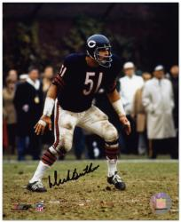 "Dick Butkus Chicago Bears Autographed 8"" x 10"" Photograph -"