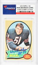 Dick Butkus Chicago Bears Autographed 1970 Topps #190 Card with HOF 79 Inscription - Mounted Memories  - Mounted Memories