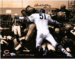 Dick Butkus Chicago Bears Autographed 11'' x 14'' Spotlight Photograph with HOF 79 inscription