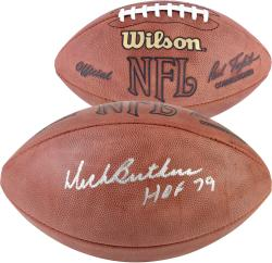 Dick Butkus Chicago Bears Autographed NFL Game Football - HOF 79