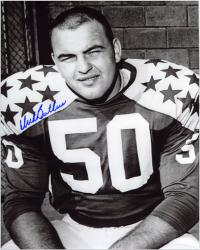 "Dick Butkus Illinois Fighting Illini Autographed 8"" x 10"" Close Up Photograph - Mounted Memories"