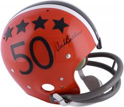 Dick Butkus illinois Fighting Illini Autographed Suspension Helmet