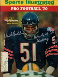 "BUTKUS, DICK AUTO ""MONSTER"" (9/21/1970) SPORTS ILLUSTRATED - Mounted Memories"