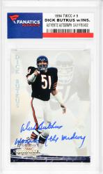Dick Butkus Chicago Bears Autographed 1994 TWCC #9 Card with Monsters of the Midway Inscription - Mounted Memories  - Mounted Memories