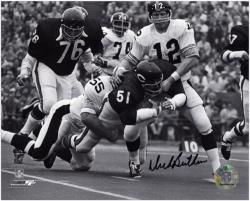 Dick Butkus Chicago Bears Autographed 8'' x 10'' Tackling Terry Bradshaw Photograph - Mounted Memories