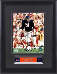 "Dick Butkus Chicago Bears Framed Autographed 8"" x 10"" Photograph - Mounted Memories"