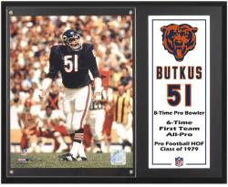 Dick Butkus Chicago Bears 12'' x 15''  Sublimated Plaque - Mounted Memories