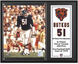 "Dick Butkus Chicago Bears 12"" x 15""  Sublimated Plaque"