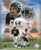 "Dick Butkus and Brian Urlacher Chicago Bears Autographed 8"" x 10"" Collage Photograph"