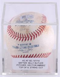 BUTLER, BILLY GAME USED (5/7/14 V SD) T8 STRK OUT BSBL (MLB) - Mounted Memories