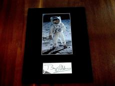 Buzz Aldrin 2nd Man On The Moon Apollo 11 Signed Auto Vintage Matted Cut Jsa Tsl