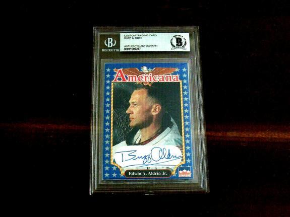 Buzz Aldrin Apollo 11 Astronaut Signed Auto Starline Americana Card # 224 Bas