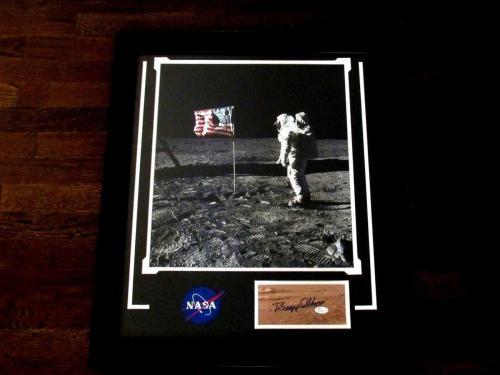 Buzz Aldrin Apollo 11 Nasa Astronaut Signed Auto Framed Matted Moon Landing Jsa