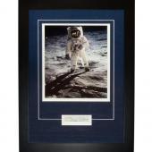 "Buzz Aldrin Autographed Astronaut (On Moon) ""Signature Series"" Frame"