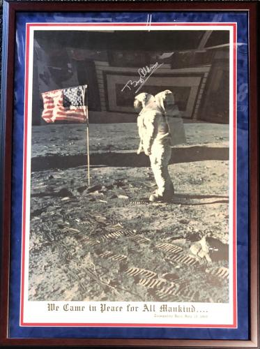 Buzz Aldrin Autographed Framed 24x36 Poster (JSA)
