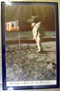 Buzz Aldrin autographed photo size 17x41 framed and matted (NASA Astronaut - 2nd Man to walk on the Moon)