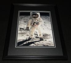 Buzz Aldrin on the Moon Framed 8x10 Photo Poster