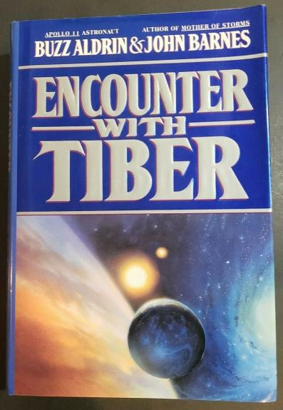 Buzz Aldrin Signed Book Auto Encounter With Tiber H/C NASA Astronaut JSA